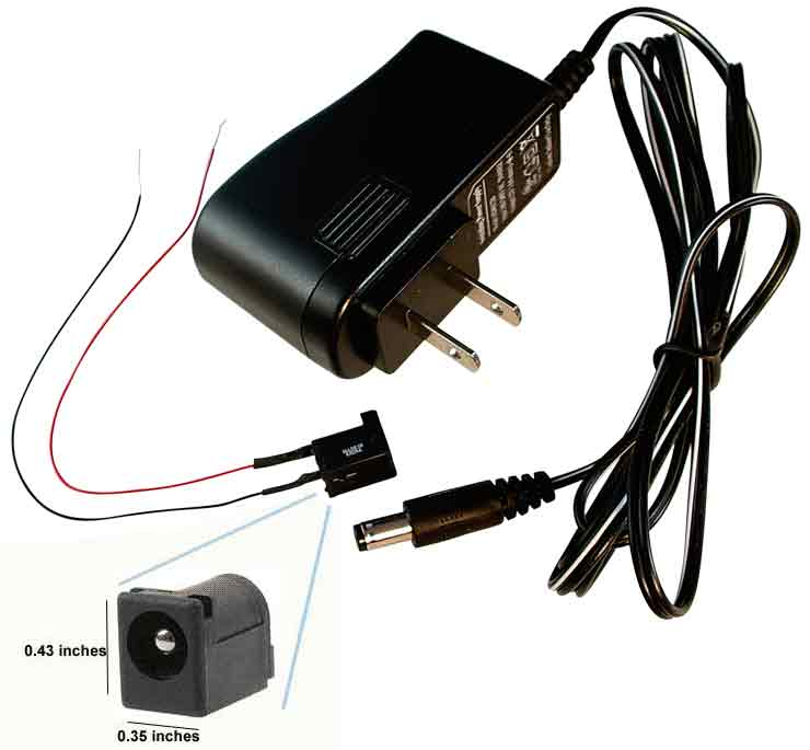 adapter with jack 12 volt dc adapter transformer wire, switch, more