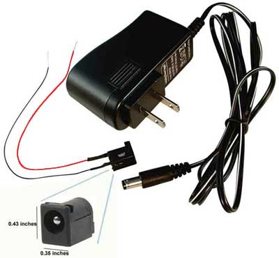 3 Volt Dc Power Adapter Wire, Switch, More