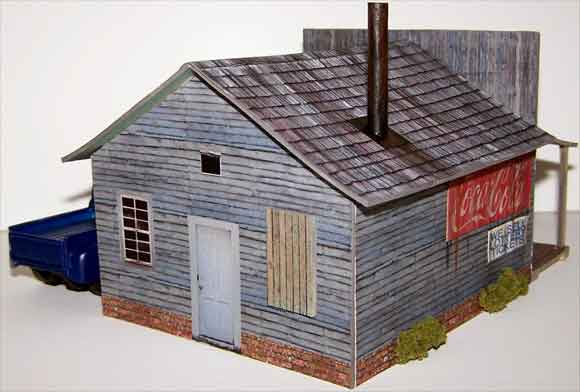 It is an image of Free Printable Model Buildings in cut out