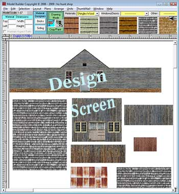 Model trains buildings with model builder modeling software - Printable ho scale building interiors ...