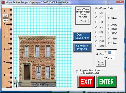 model builder opening screen