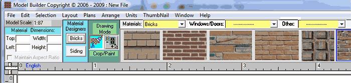 model builder design screen