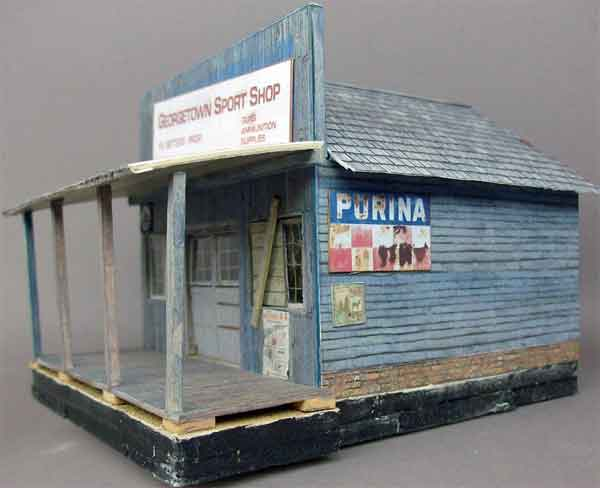 Ho model train scale building home - Printable ho scale building interiors ...